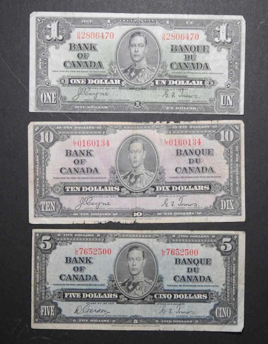 Canada 1937 George V Bank Notes