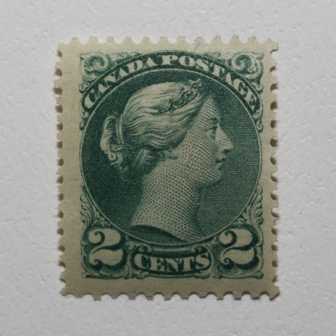 """Canada 2c """"Large Queen"""" S/C #36 VF MH"""