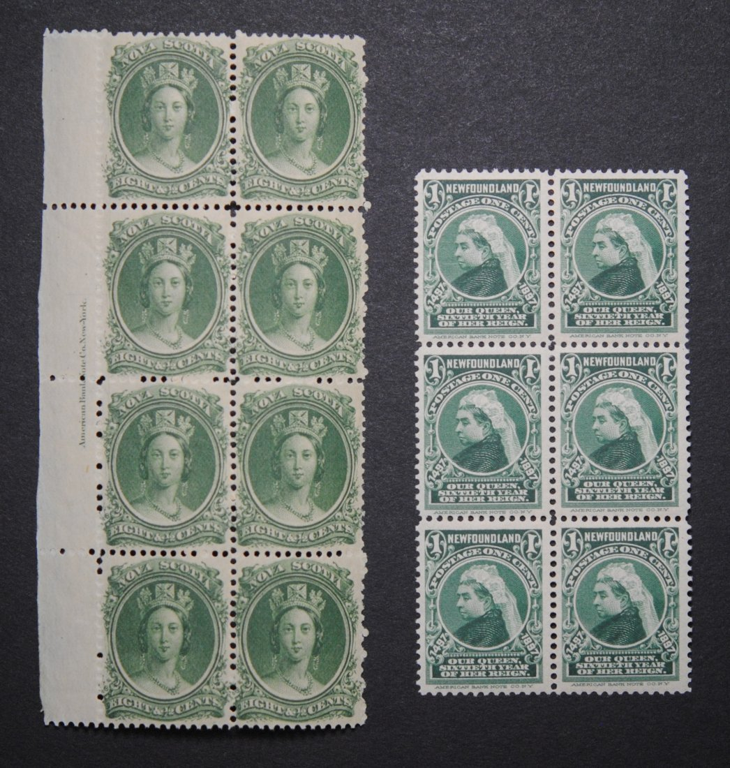 Canada Newfoundland and Nova Scotia Blocks VF MNH