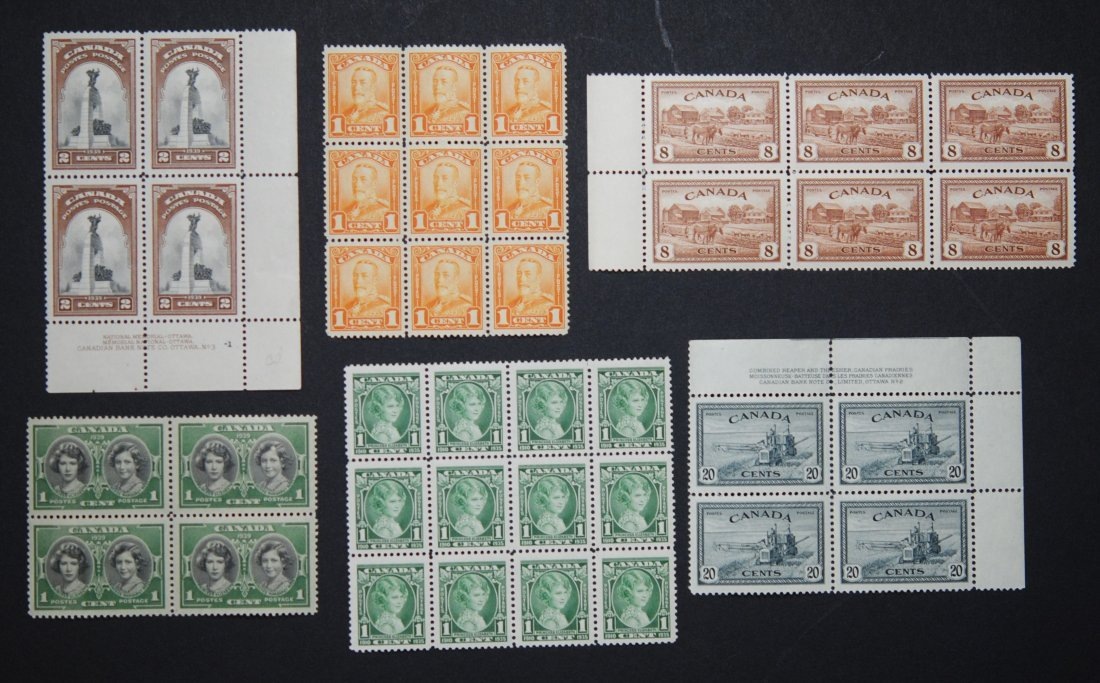 Canada Blocks and Plates Collection