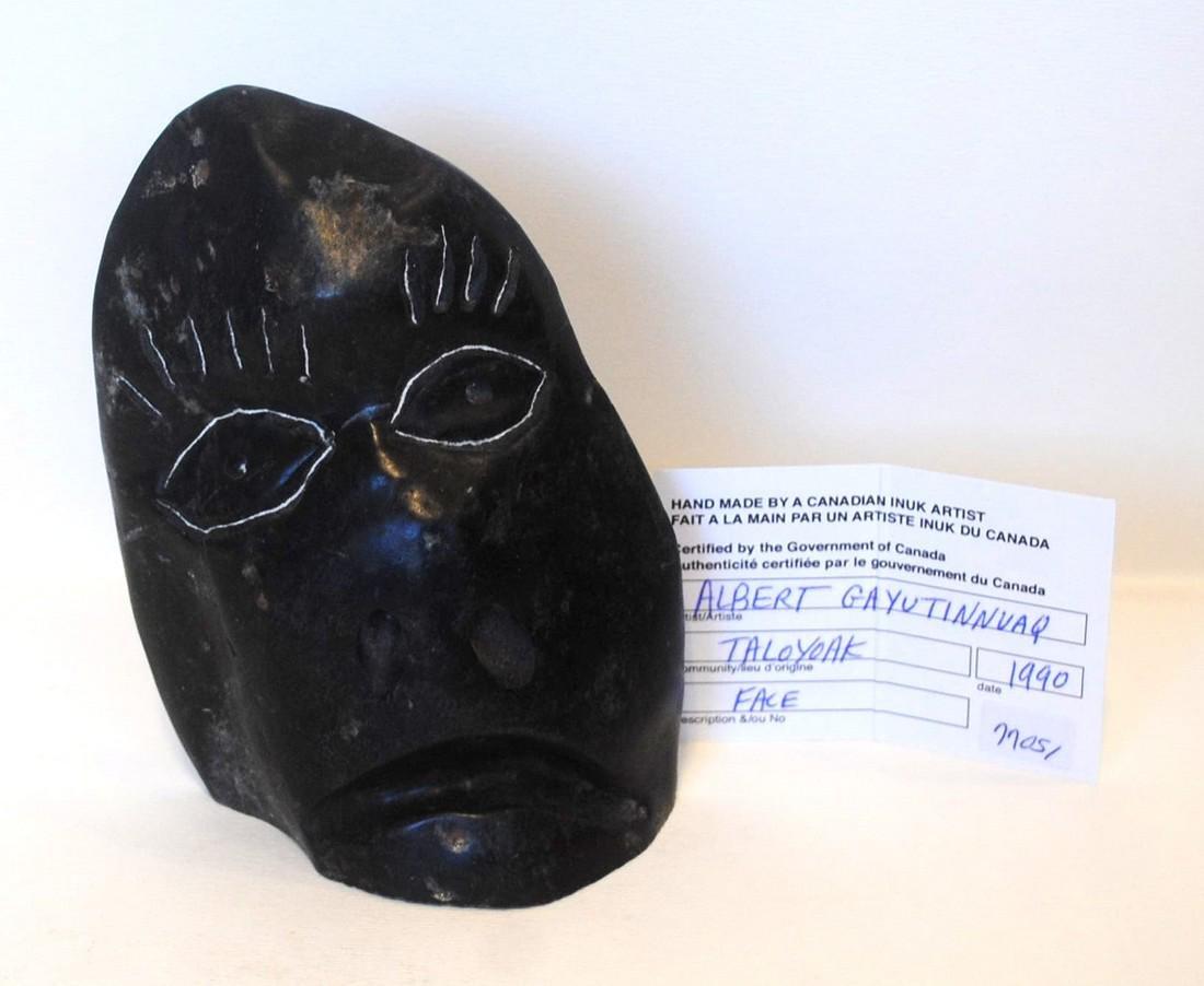 "Albert Qayutinnuaq's ""Face"" Sculpture - 6"