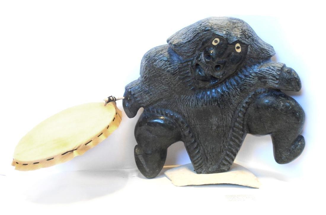 "Uriash Puqiqnaq's ""Drum Dancer"" Sculpture"