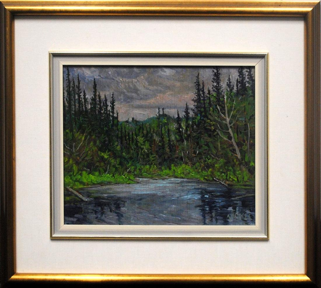 """Lawrence Nickle's """"Outlet of Blue Skies Lake"""" Original"""