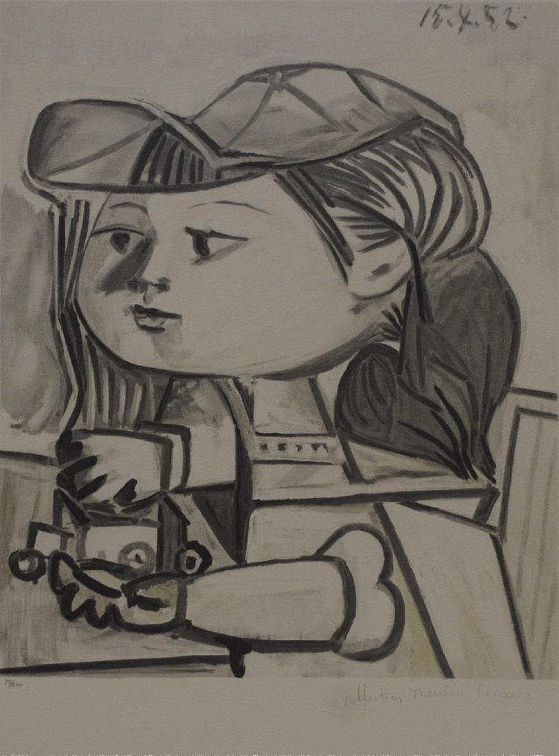 """Pablo Picasso's """"Buste De Petite Fille"""" Limited Edition"""