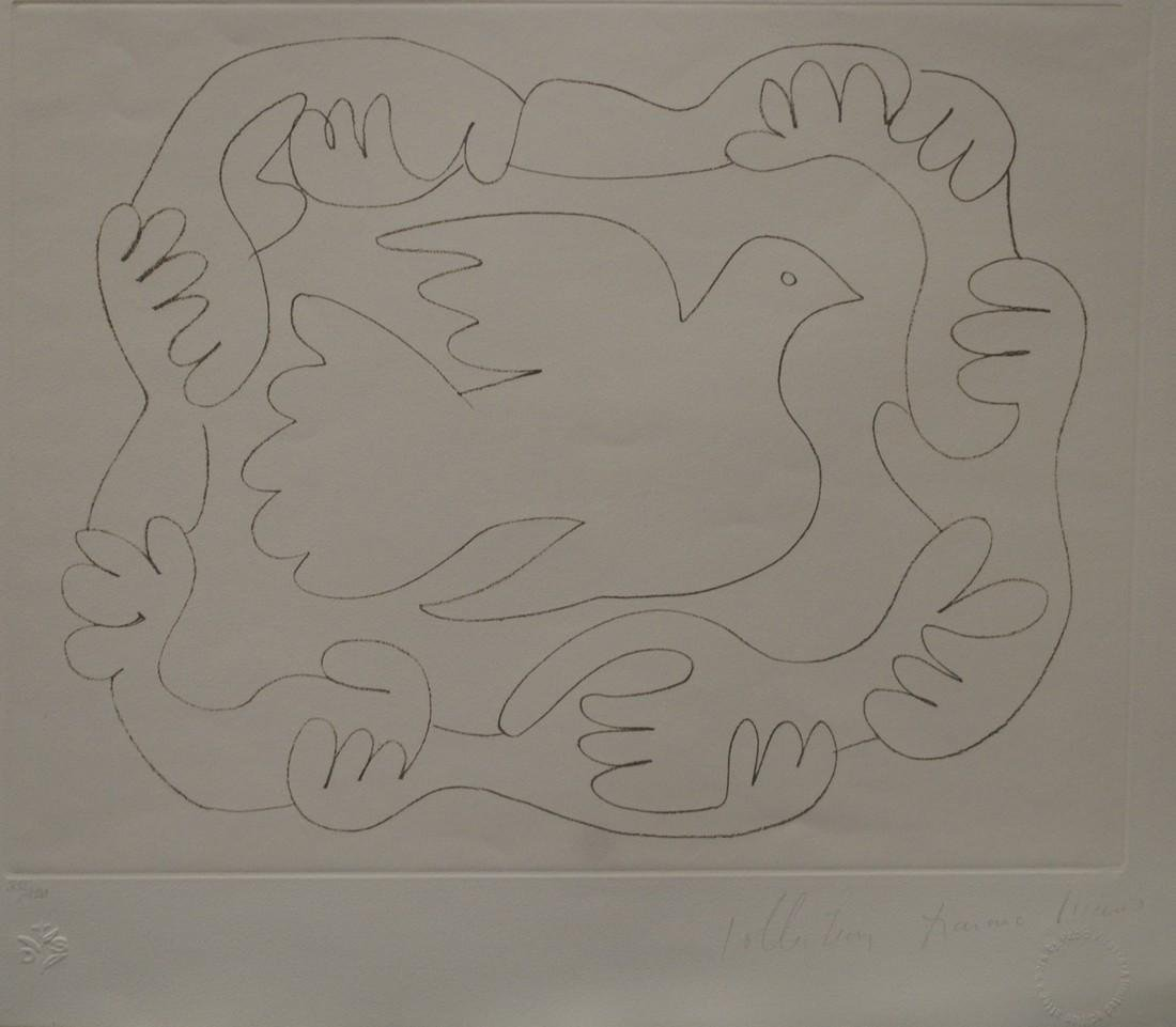 """Pablo Picasso's """"Etudes Des Mains et Colombe"""" Limited"""