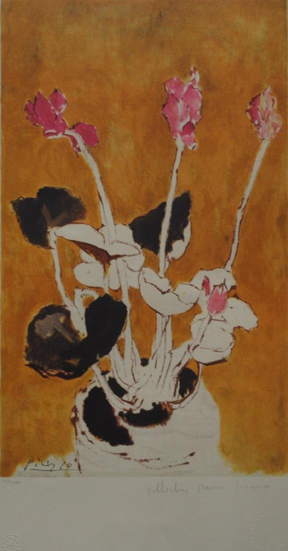 "Pablo Picasso's ""Les Cyclamens"" Limited Edition"