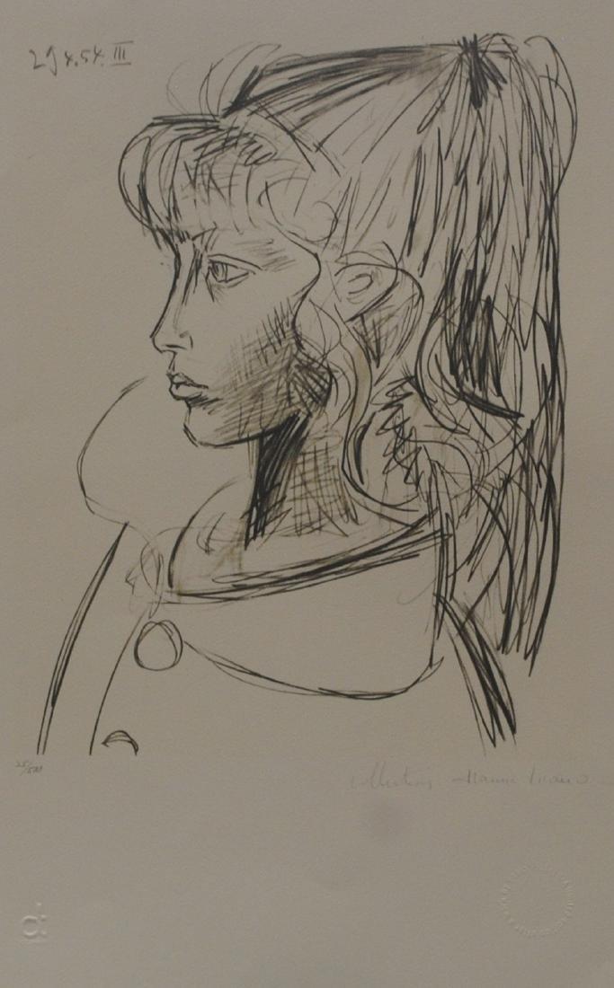 """Pablo Picasso's """"Sylvette Du Profil Gauche"""" Limited"""