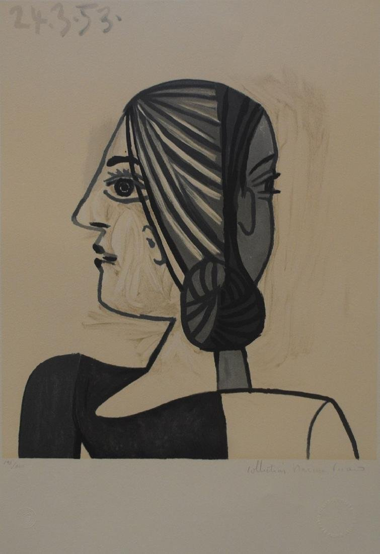 "Pablo Picasso's ""Tete"" Limited Edition Lithograph"