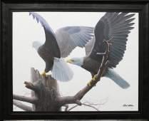 "Robert Bateman's ""Landings - Bald Eagles"" Limited"