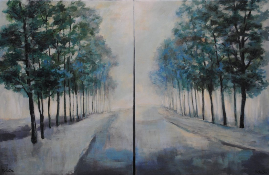 Victor Zag Original Abstract Painting