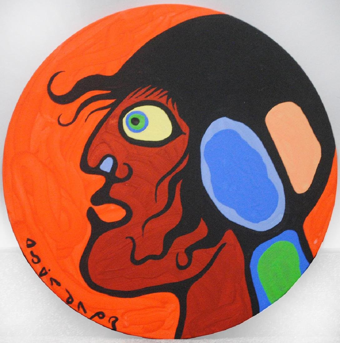 "Norval Morrisseau's ""Man Looks Left"" Original"