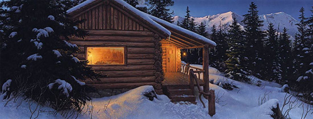 """Stephen Lyman's """"Wilderness Welcome"""" Limited Edition"""