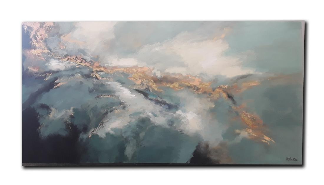 Victor Zag's Original Abstract Acrylic on Canvas