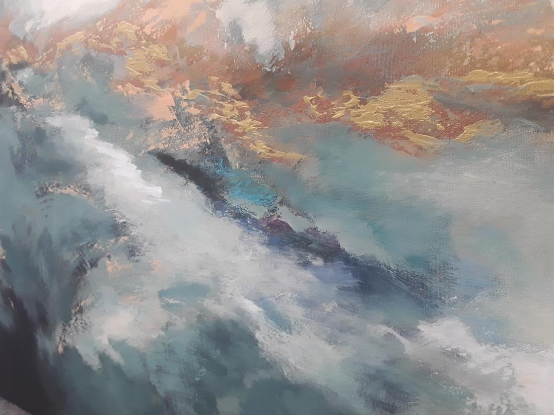 Victor Zag's Original Abstract Acrylic on Canvas - 2