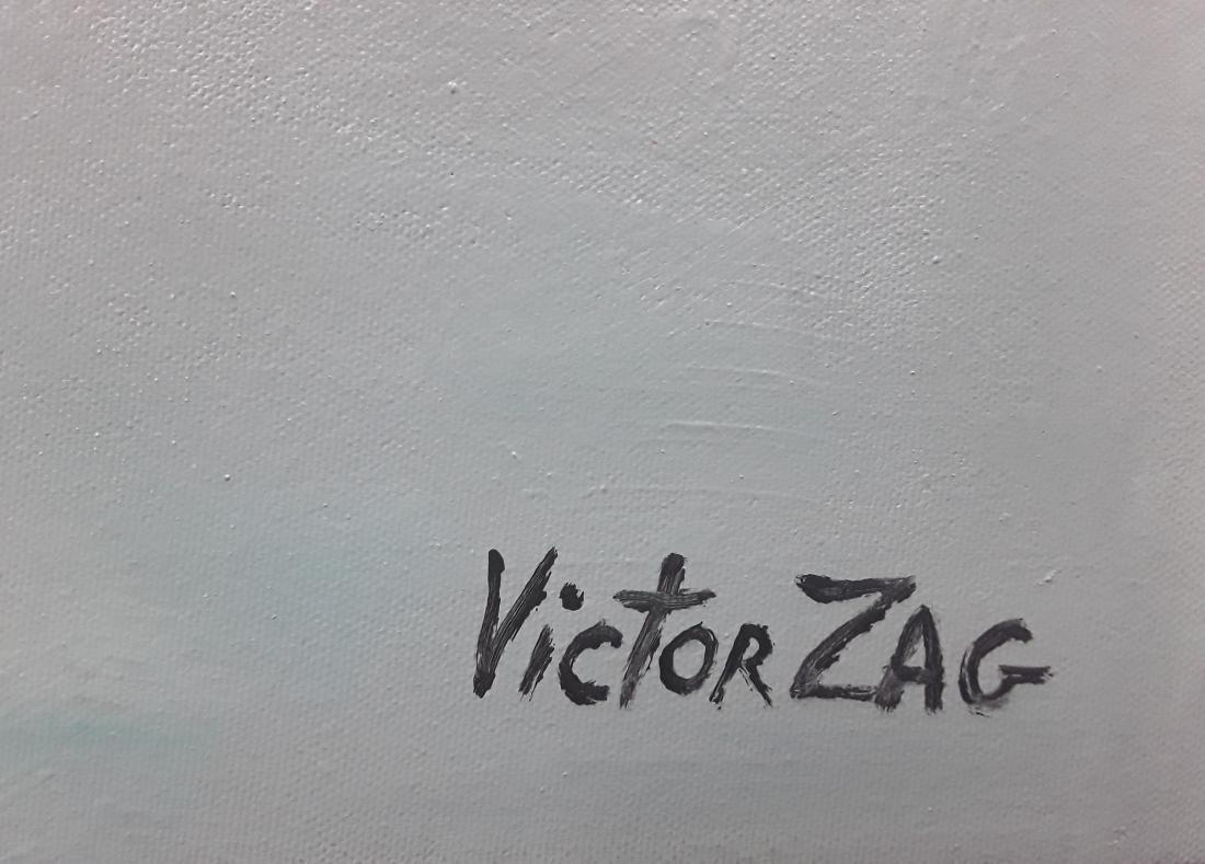 Victor Zag's Original Abstract Acrylic on Canvas - 3