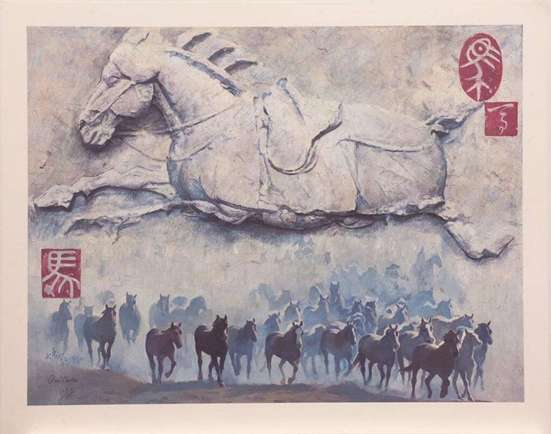 "Qin Dahu's ""Year of the Horse"" Limited Edition Print"