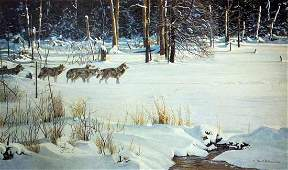 Robert Batemans Wolves on The Trail Limited Edition