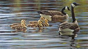 """Robert Bateman's """"Canada Geese With Young"""" Limited Edit"""