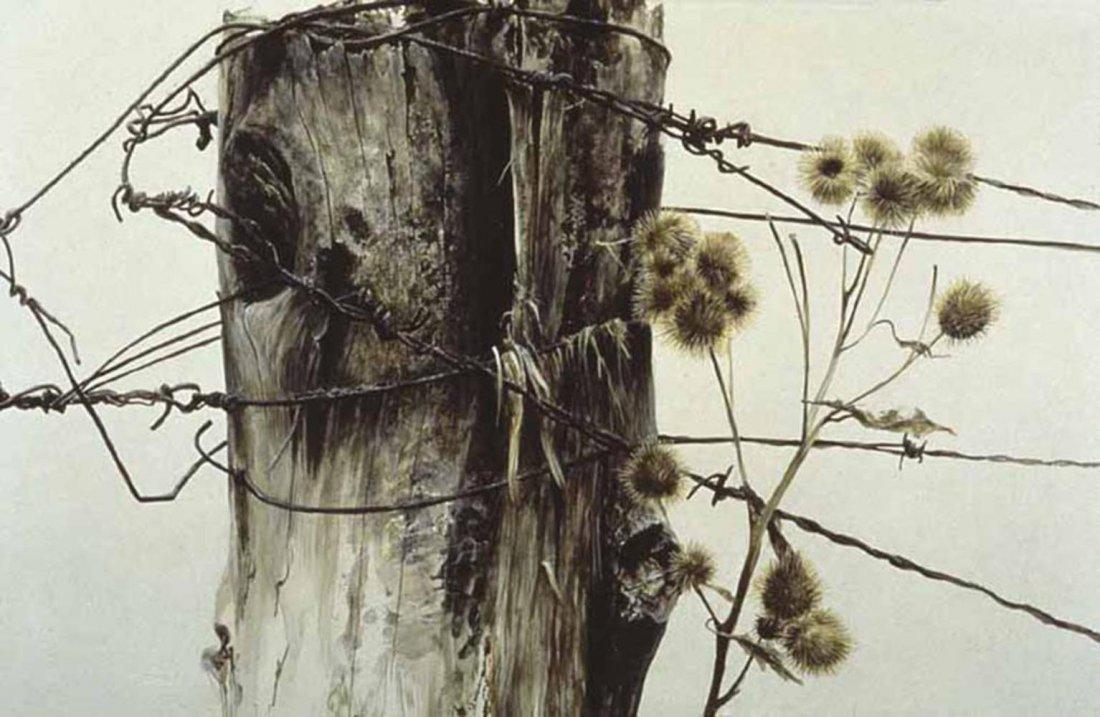 "Robert Bateman's ""Fence Post and Burdock"" Limited Editi"