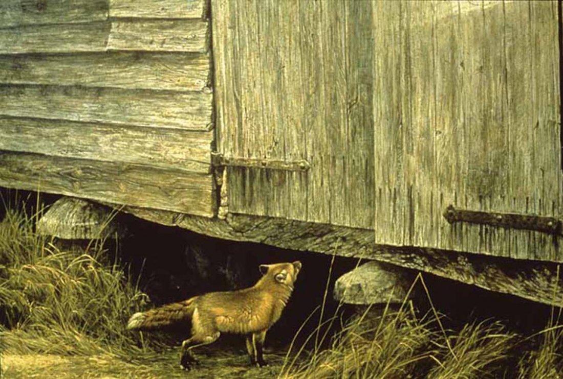 "Robert Bateman's ""Fox at The Granary"" Limited Edition P"