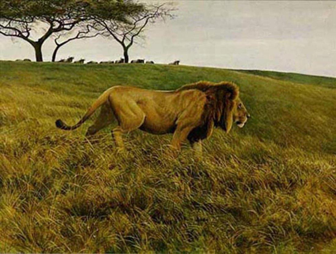 """Robert Bateman's """"Lion and Wildebeest"""" Limited Edition"""