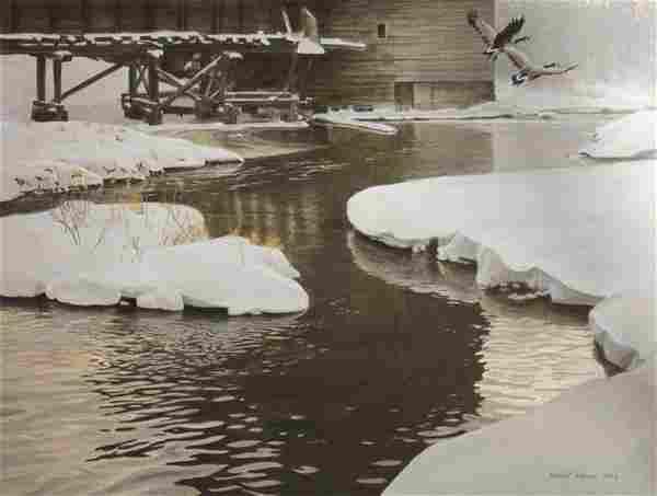 "Robert Bateman's ""Mill Pond - Canada Geese"" Limited Edi"
