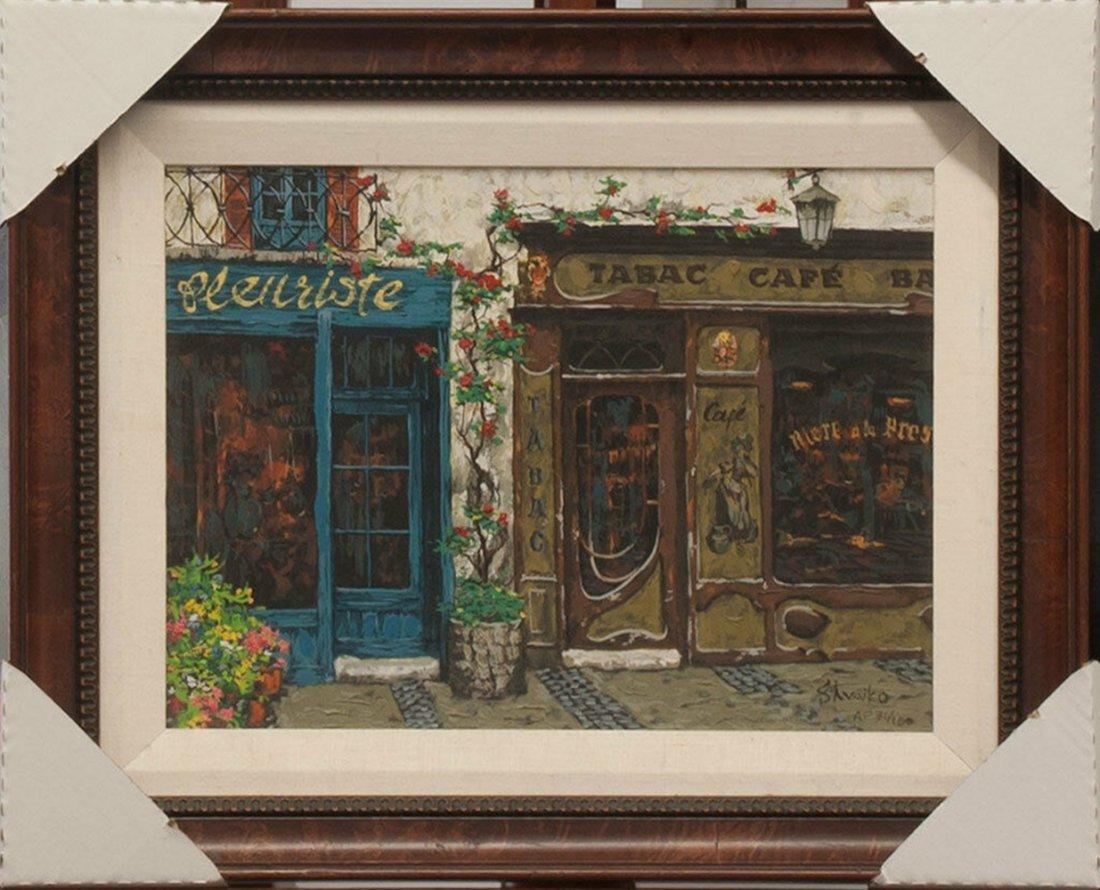 "Shvaiko's ""Cafe"" Enhanced Artist Proof Canvas"
