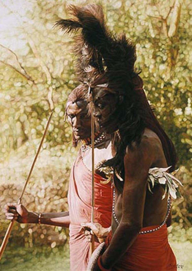"Simon Combes' ""Masai- Longonot, Kenya"" Limited Edition"