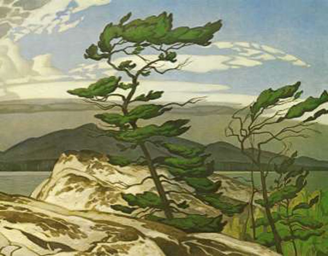"A.J. Casson's ""White Pine"" Giclee Canvas"