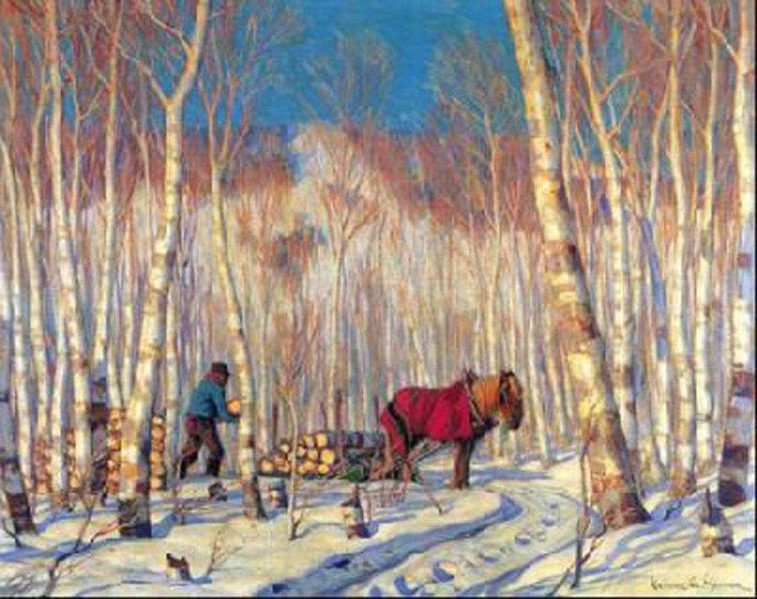 "Clarence Gagnon's ""March In The Woods""  Giclee Canvas"