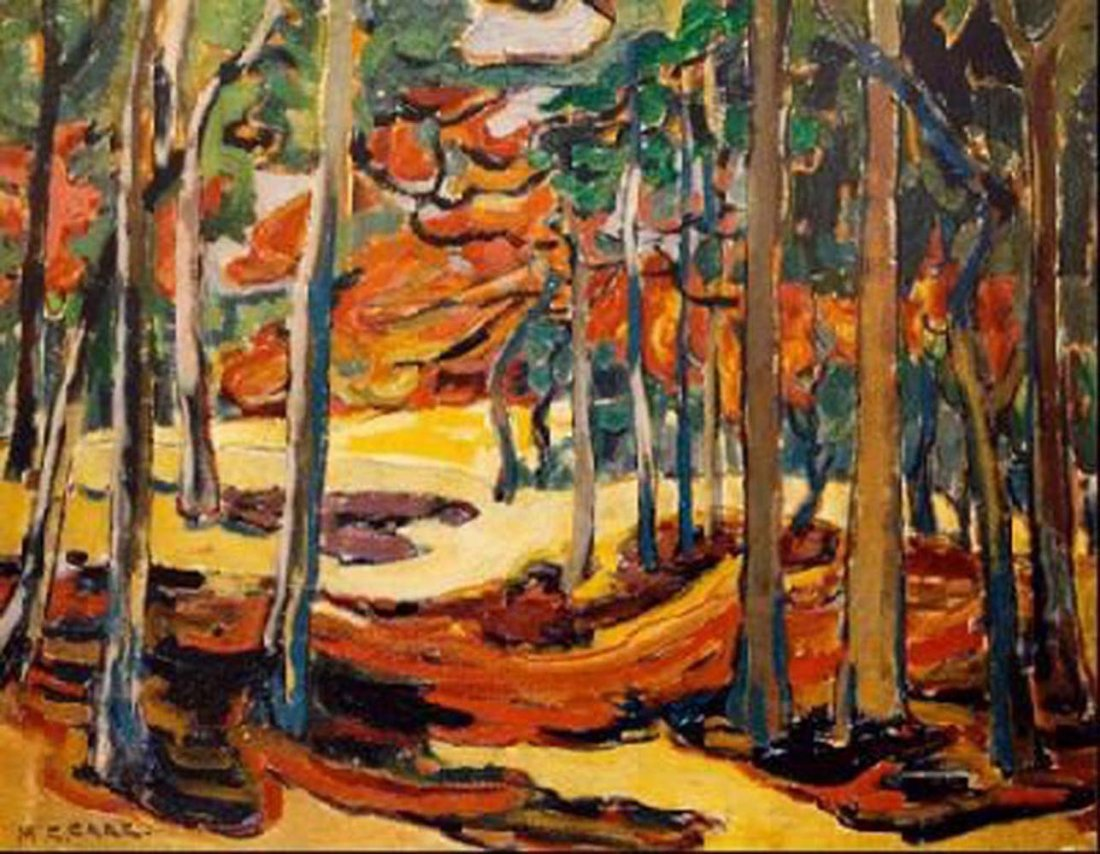 """Emily Carr's """"Autumn Woods"""" Giclee Canvas Reproduction"""