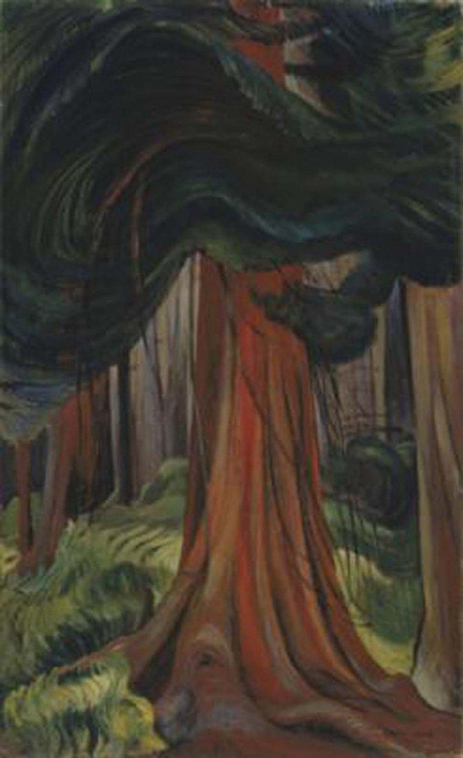 """Emily Carr's """"Red Cedar"""" Giclee Canvas"""