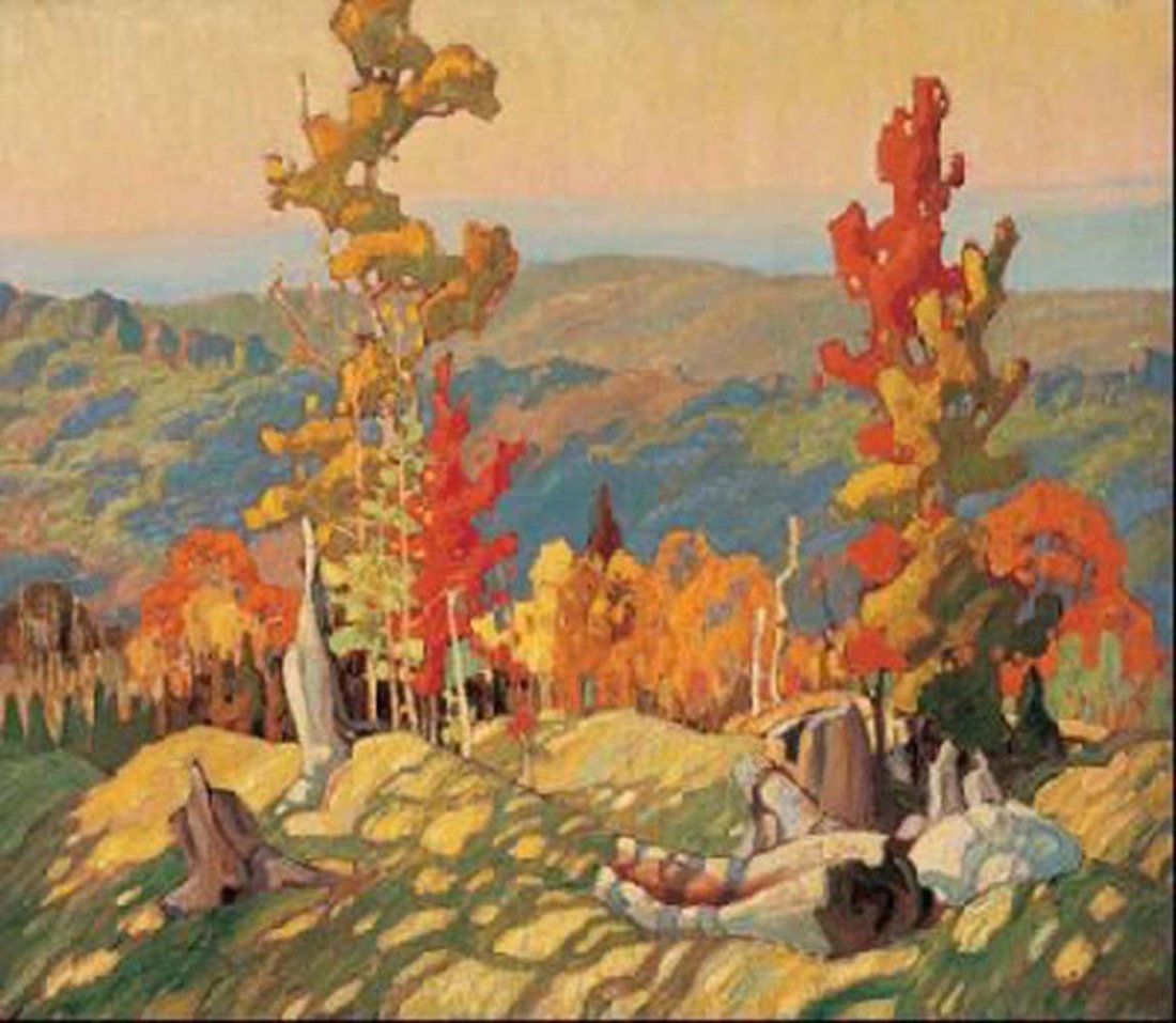 """Franklin Carmichael's """"Autumn in Northland"""" Giclee Canv"""