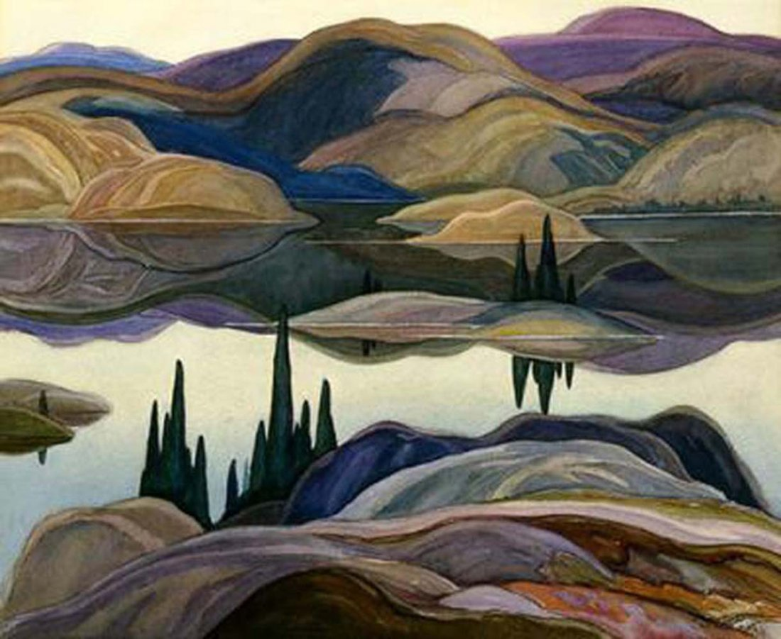 "Franklin Carmichael's ""Mirror Lake"" Giclee Canvas"