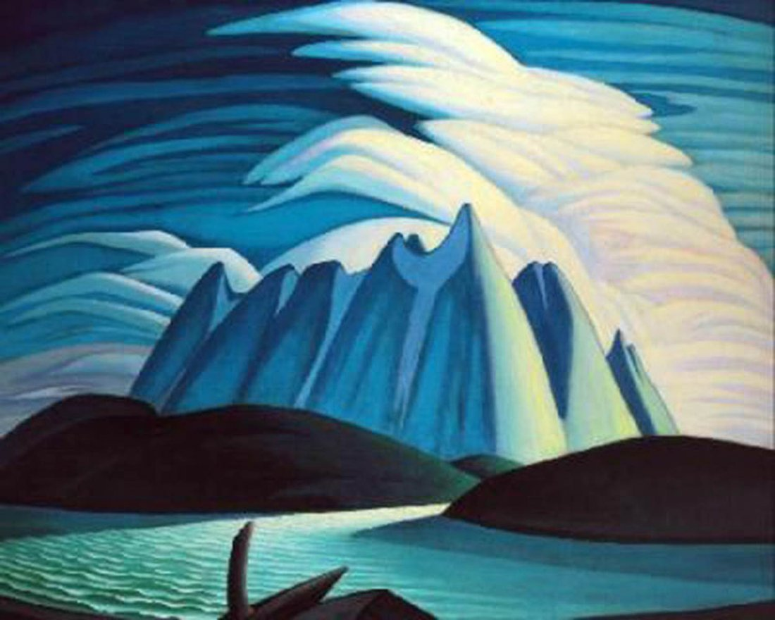 """Lawren Harris's """"Lake and Mountains"""" Giclee Canvas"""