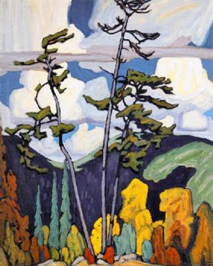 "Lawren Harris's ""The Pines"" Giclee Canvas Reproduction"