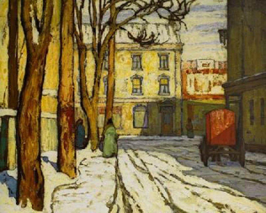 "Lawren Harris's ""Toronto Street Winter Morning"" Giclee"