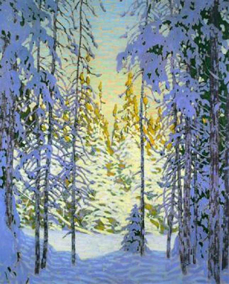 """Lawren Harris's """"Winter Wonderland"""" Giclee Canvas"""