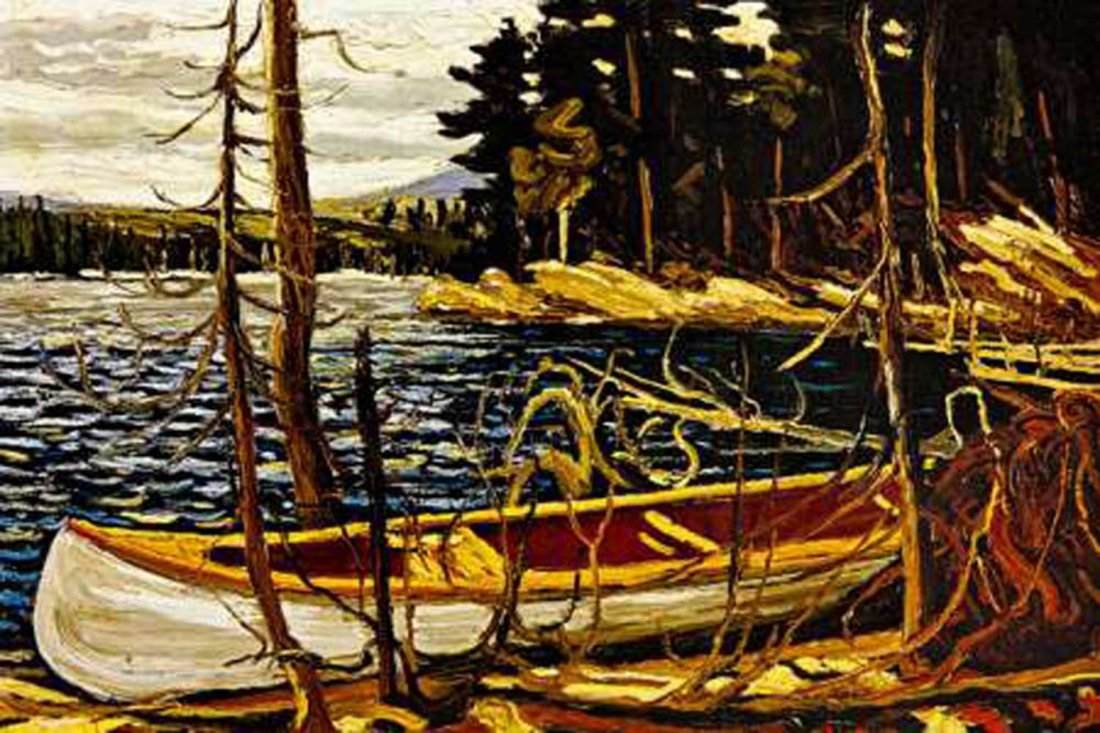 "Tom Thomson's ""The Canoe"" Giclee Canvas Reproduction"