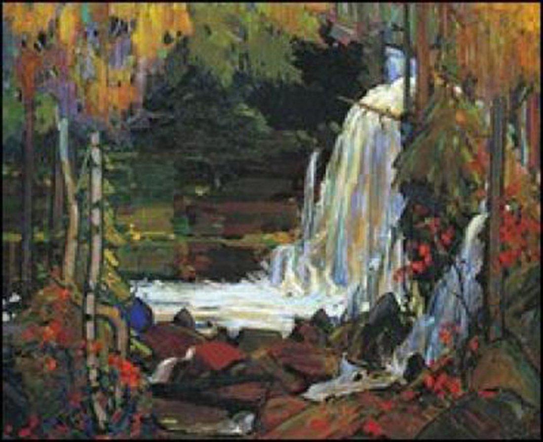 "Tom Thomson's ""Woodland Waterfall"" Giclee Canvas"