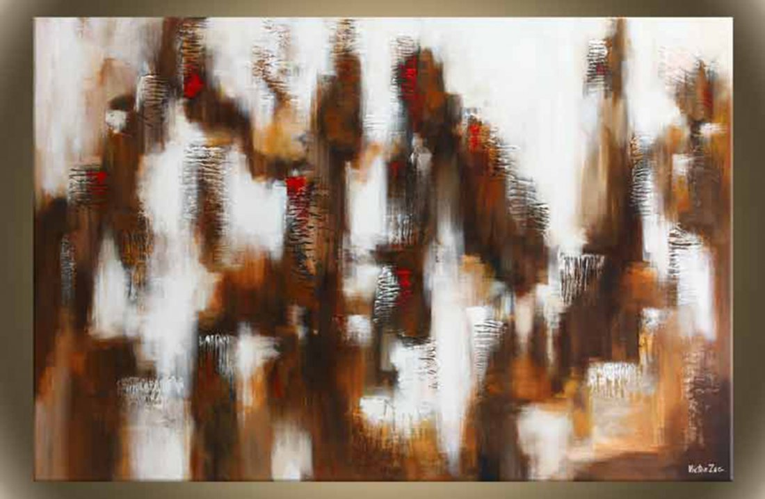 """Victor Zag's """"Big City Lights"""" Giclee Canvas Abstract"""