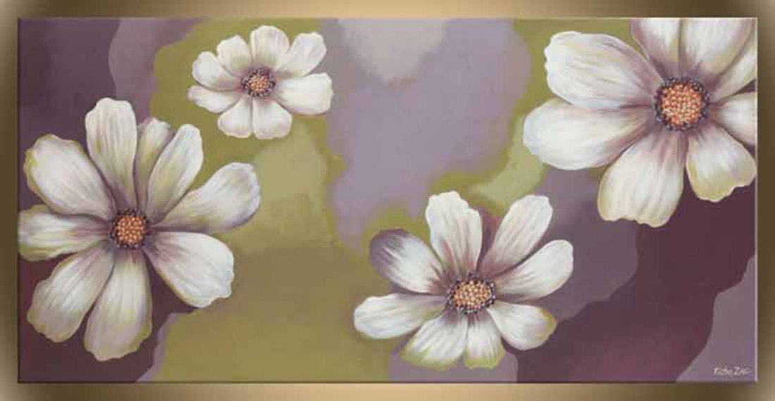 """Victor Zag's """"Cosmos"""" Giclee Canvas Floral Reproduction"""