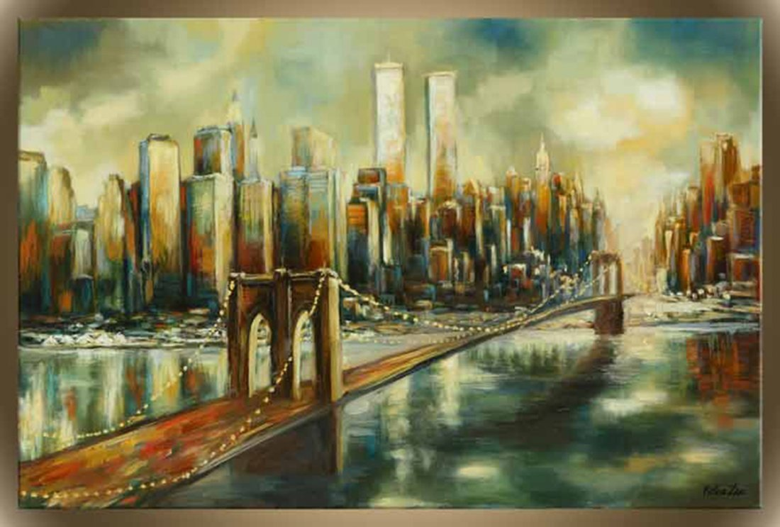 """Victor Zag's """"The City That Never Sleeps"""" Giclee Canvas"""