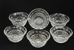 Waterford Crystal Dessert Bowls w/ Diamond Pattern