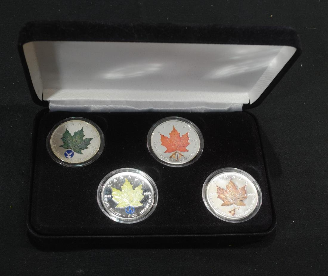 Royal Canadian Mint Set of 4 1.02 Silver Coloured Maple
