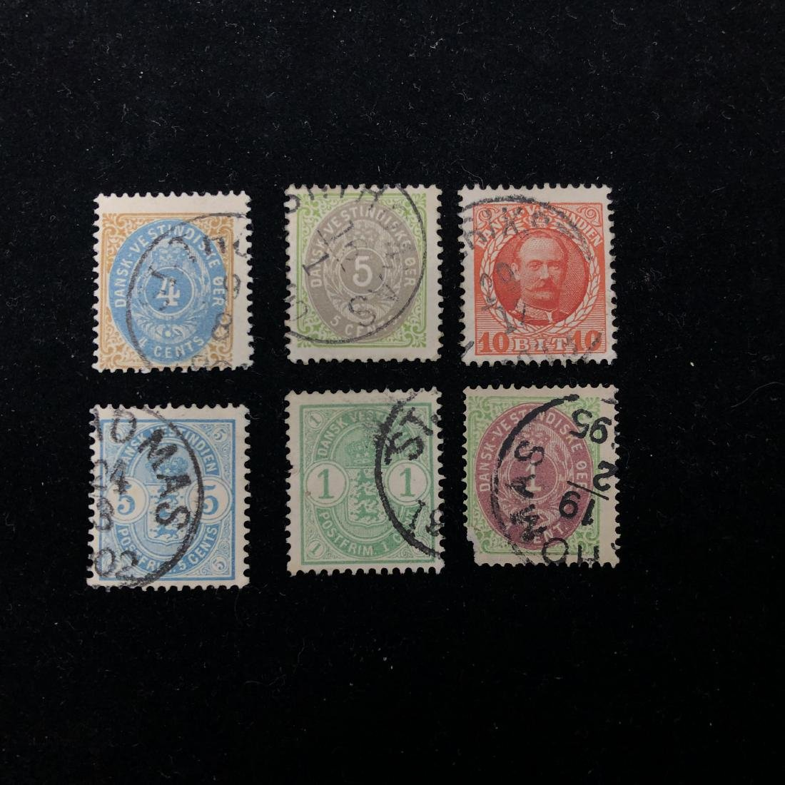 Danish West Indies Stamp Collection from 1874-1908