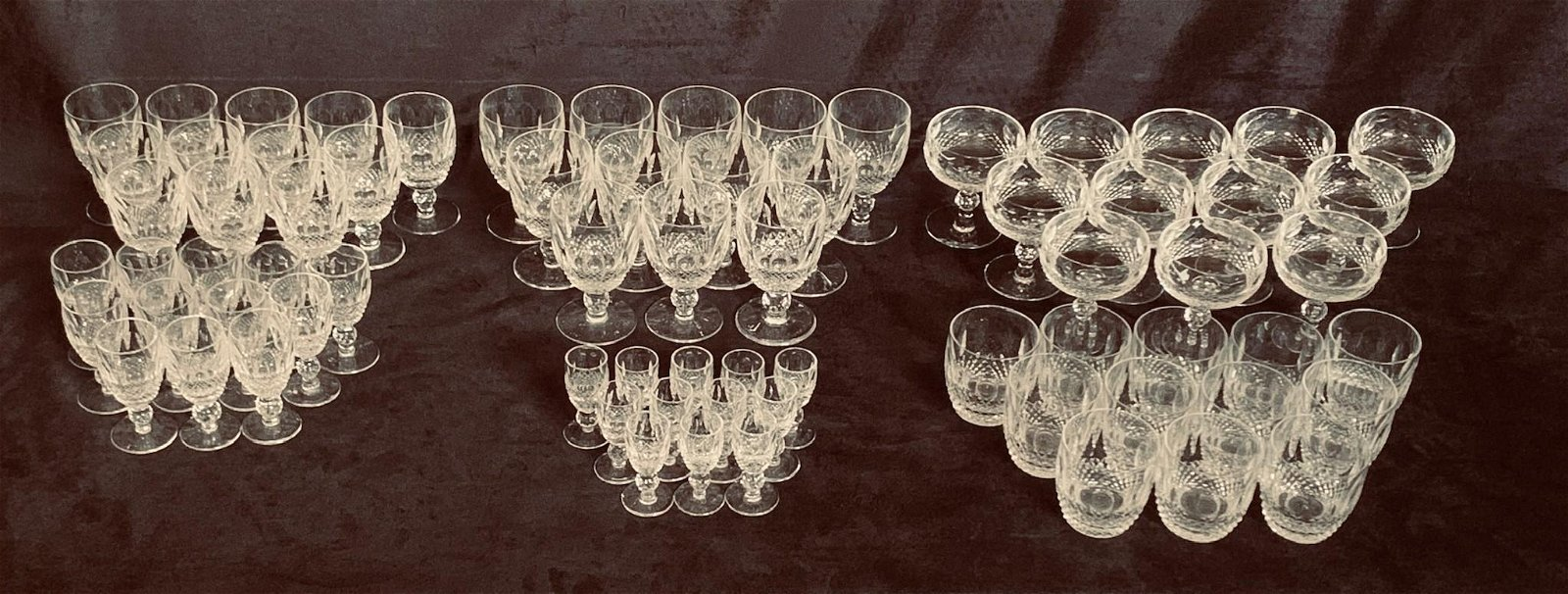 Waterford Colleen Crystal Glasses 72 pcs