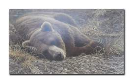 """Robert Bateman's """"Grizzly At Rest"""" Limited Edition"""
