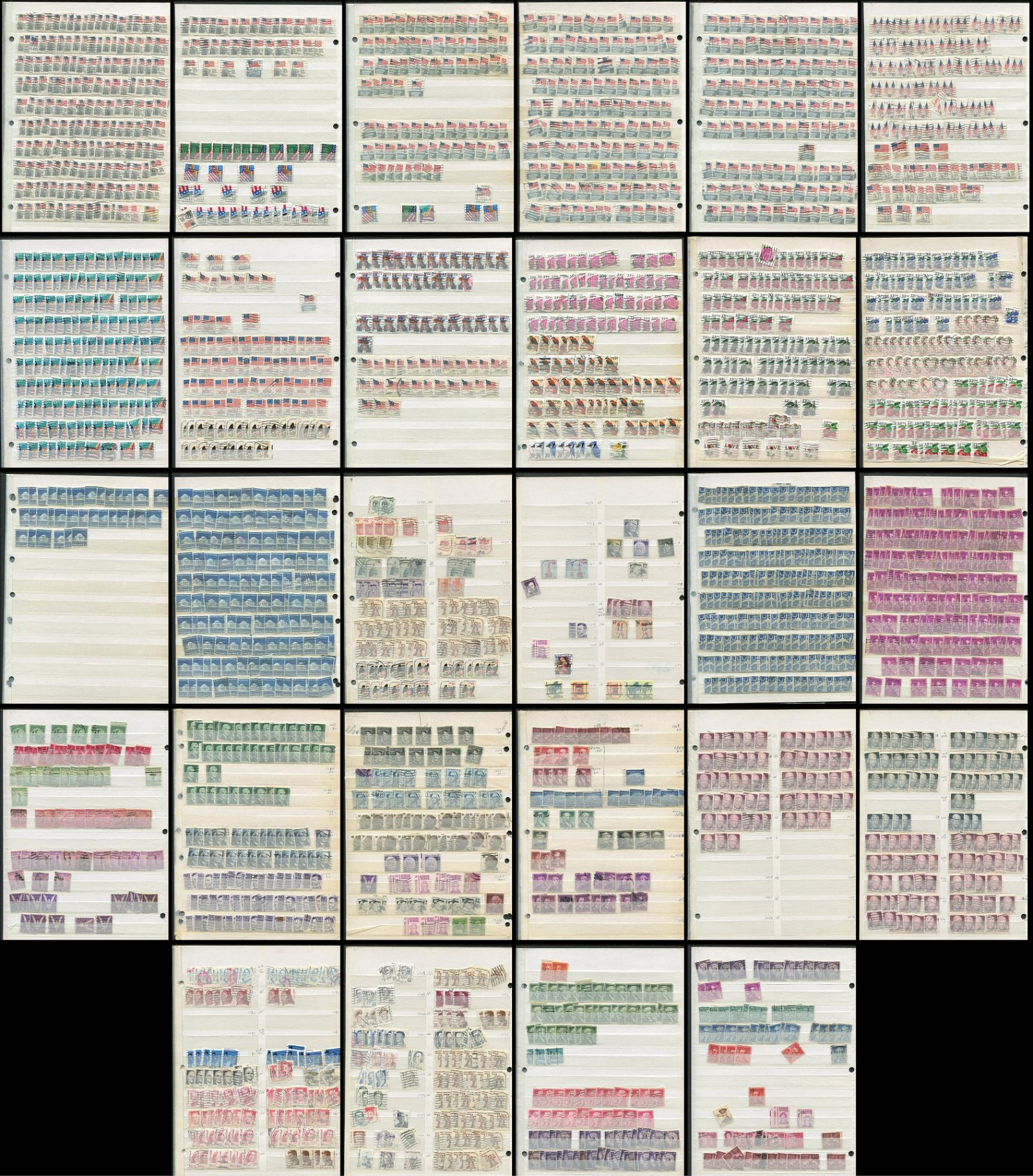 USA Collection of 1600 Stamps