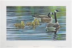 """Robert Bateman's """"Canada Geese With Young"""" LE Print"""